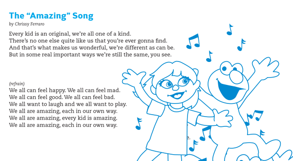 photograph relating to Make New Friends Song Printable known as Getting a Mate Sesame Highway and Autism